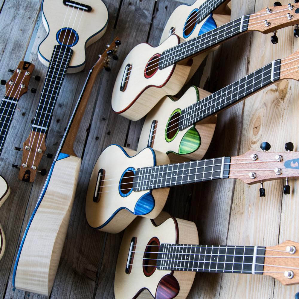 Moderno Handmade Ukulele Bevel Cutaway