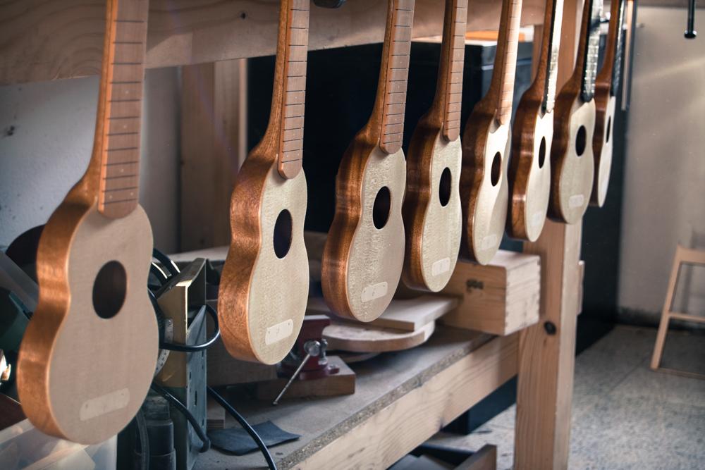 Allegro ukuleles building